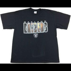 VTG Oakland Raiders Graphic Men's T-Shirt Size XL